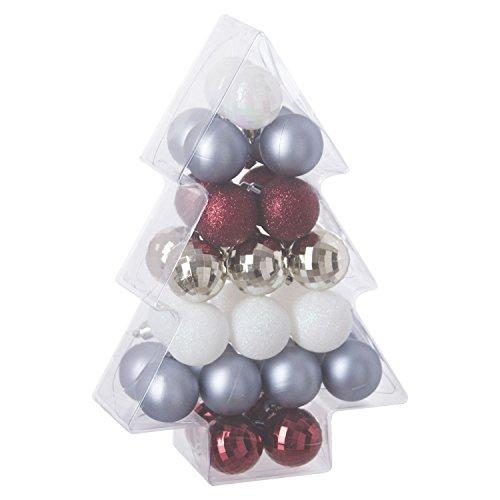 Féérie Lights & Christmas Kit déco pour Sapin de Noël - 34 Pièces - Or, Blanc et Argent
