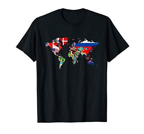 International World Flags T-shirt Flags World Map for kids T-Shirt