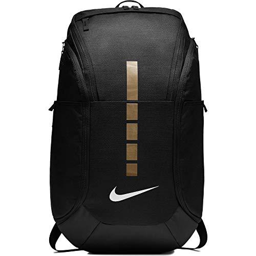 Nike Hoops Elite Pro Basketball Backpack,Black/Metallic Gold,One Size