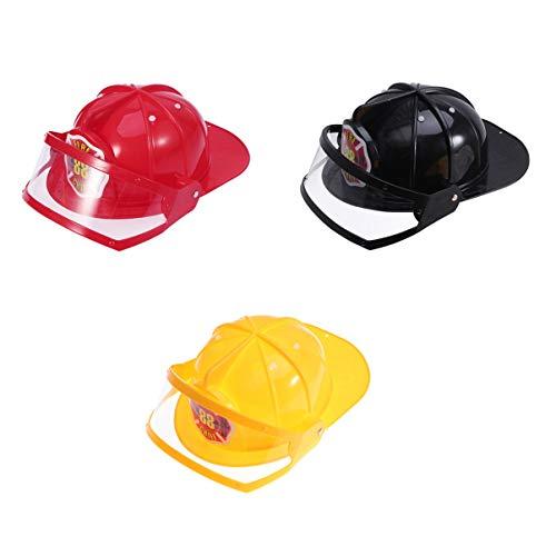Holibanna casco de seguridad de plástico sombrero de fuego ajustable juguete juguete educativo construcción creativa gadgets divertidos para niños niños (rojo)
