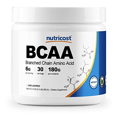 Nutricost BCAA Powder 2:1:1 (Unflavored, 30 Servings)