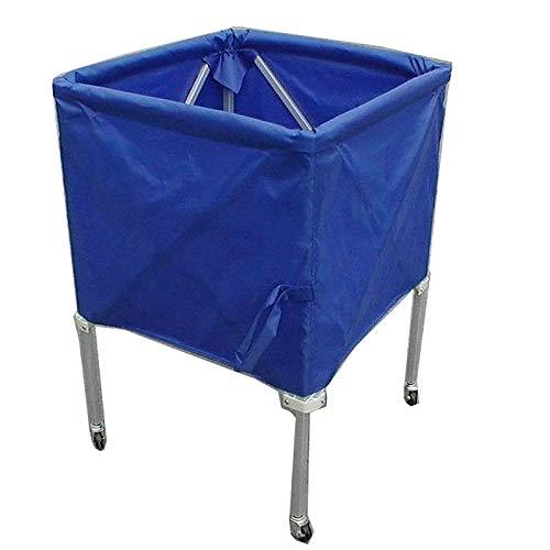 JIAGU Rack de Bola de Garaje Rack de Almacenamiento de Baloncesto de Pelota móvil Adecuado para centros comerciales y escuelas Almacenamiento Vertical (Color : Blue, Size : 65x65x90cm)