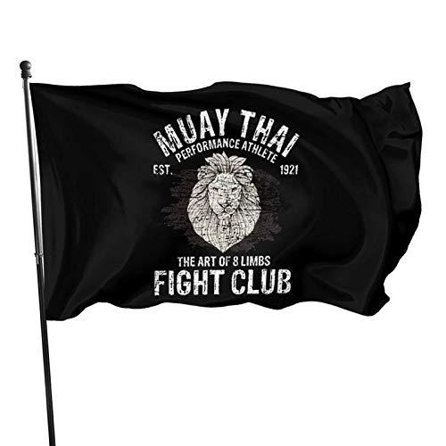 FLDONG Muay Thai Kampfsport Flagge 90 x 150 cm Heimdekoration, Gartendekoration, Außendekoration