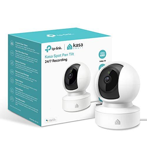 TP-LINK (KC115) Kasa Spot Indoor Wireless Surveillance Camera, 1080p, Pan and Tilt, Night Vision, 2-way Audio, 24/7 Recording, Free Cloud Storage