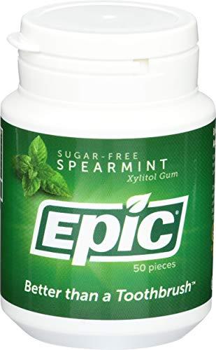 Epic Dental Xylitol Gum, Spearmint 50 ct