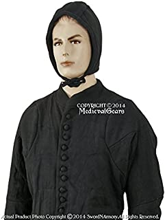 Medieval Gears Brand Extra Large Medieval Gambeson Type 6 Padded Armour Coat SCA WMA Arming Jacket BK