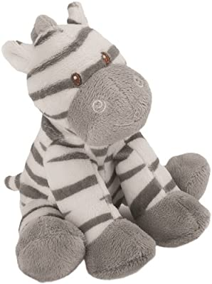 Suki Baby Small Zooma Soft Boa Plush Rattle with Embroidered Accents (Zebra) from Suki Baby