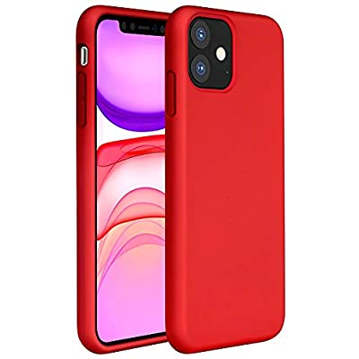 Miracase Liquid Silicone Case Compatible with iPhone 11 6.1 inch(2019), Gel Rubber Full Body Protection Shockproof Cover Case Drop Protection Case?Red?