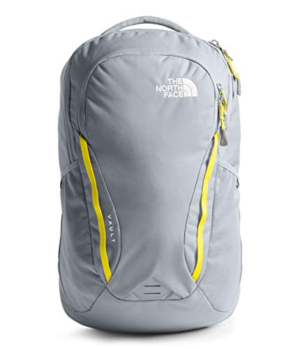 The North Face Women's Vault Backpack, Mid Grey/TNF Lemon, One Size