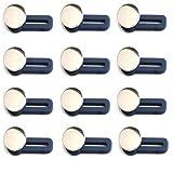 Prolunga Vita Per Pantaloni Elastici, Bottone Retrattile Per Jeans, Bottoni Per Unghie in Metallo, Prolunghe Per Pantaloni Con Bottoni in Metallo, Bottone Per Prolunga Staccabile Regolabile (12Pcs-A)