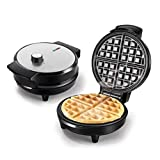 Mydee Waffle Maker Iron Machine Waffle Home Machine RockStone Nonstick Coating, Thermostat, Adjustable Temperature Control, 1000W