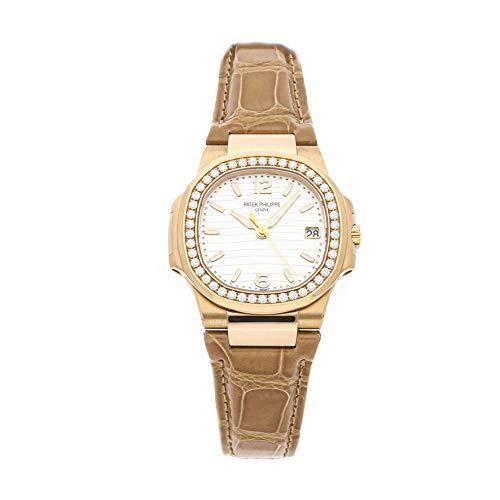 Patek Philippe Nautilus Quartz Silver Dial Women's Watch 7010R-011