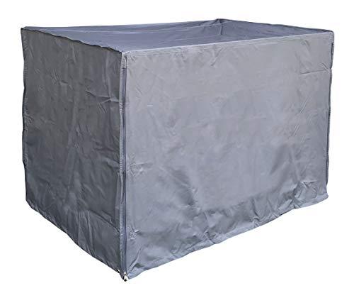 QUICK STAR Gitterbox Abdeckung 125x85x95cm Grau Schutzhülle Abdeckplane
