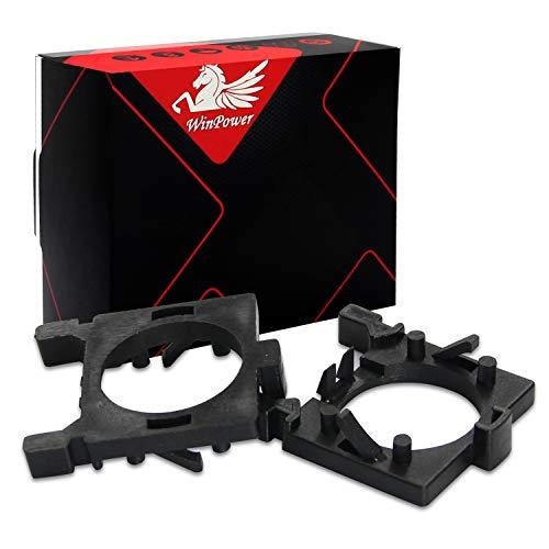 WinPower H7 LED Lampadina Base Clips Adattatore Titolare Supporto Conversione Accessori Compatibile con Ford Focus 2/3, Fiesta MK2, Mondeo Anabbaglianti, 2 pezzi