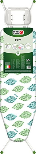 GIMI Green Line Roy ASSE da Stiro con Portacaldaia, Regolabile in Altezza, Acciaio, Bianco, Piano Stiro 122 x 38 cm, 144 x 38 x 90 cm