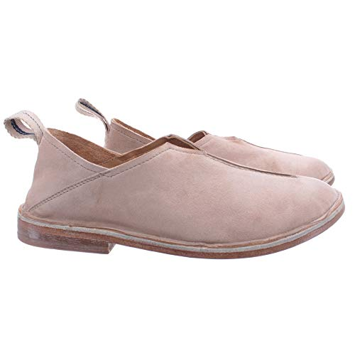 MOMA Damen Schuhe Halbschuhe 1FS051 Citox Leder Beige