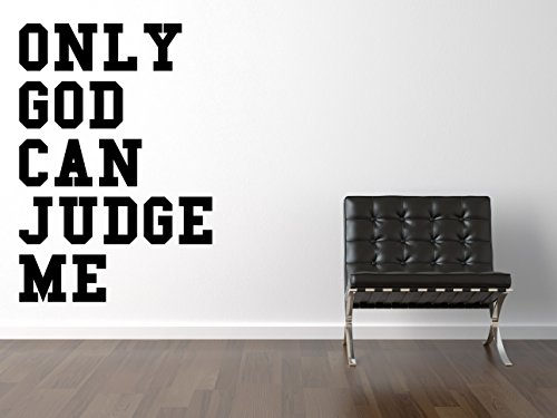Certified Freak Only God Can Judge Me College Pegatina De Pared Negro 90 x 130 cm
