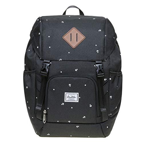 KAUKKO Damen Rucksack Studenten Backpack Laptop College Schulrucksack für 10 Zoll Laptop, 25 * 16 * 38 cm, 15.2 L