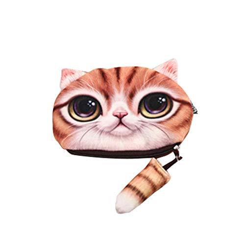 Funihut Etui, etui, voor meisjes en jongens, cartoon, schattige simulatie, dieren, kat, mini, handtas, potlood, opbergtas hoofdtelefoon