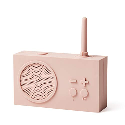 Lexon TYKHO3 Radio FM + Haut-Parleur Bluetooth Rose