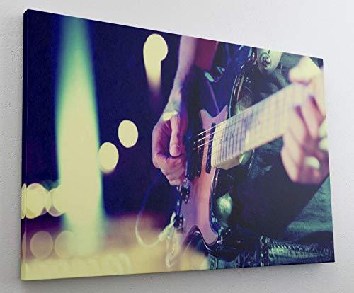 Musik Gitarre Musiker Leinwand Bild Wandbild Kunstdruck L1242 Größe 70 cm x 50 cm