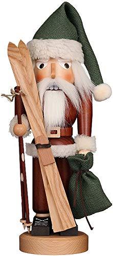 Christian Ulbricht Nussknacker Weihnachtsmann mit Ski Natur - 39,5 cm