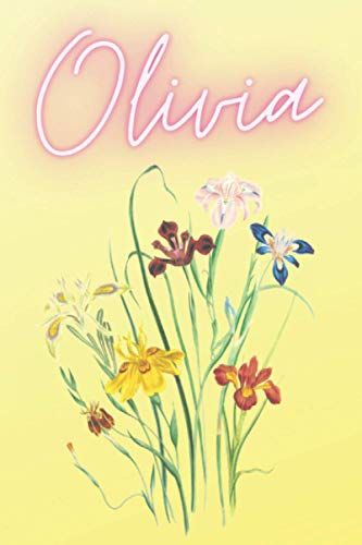 Olivia: Personalized Name Notebook To School Notes for writing notes, journaling (American female names)