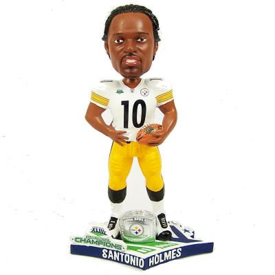 Pittsburgh Steelers Santonio Holmes Super Bowl 43 Bobblehead Bobble