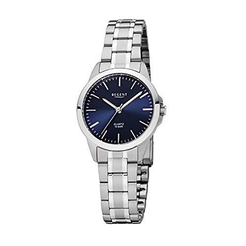 REGENT Uhr - Damenuhr mit Stahlband 10 Bar - F1004