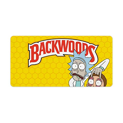 Back-Woods Locking Table Mat Gaming Mouse Pad Soft Extra Extended Large Mouse Pad Anti-Slip Rubber Base Computer Keyboard Mouse Mat Desk Pad 30x60cm