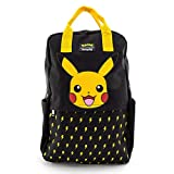 Loungefly Pikachu Lightning Bolt Nylon Square Backpack (Multicolored, One Size)