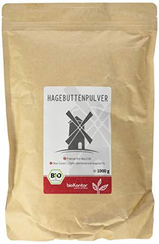 bioKontor Hagebuttenpulver in Rokostqualität, 2er Pack (2 x 1000 g)