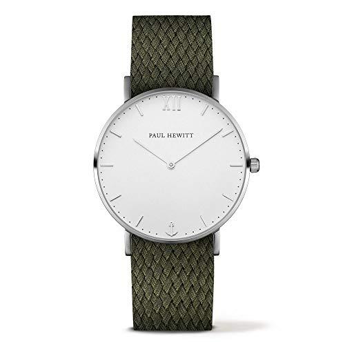 Paul Hewitt Unisex Erwachsene Analog Quarz Uhr mit Nylon Armband PH-SA-S-St-W-20S
