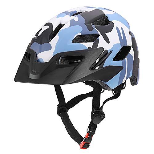 Lixada Caschi da Bici per Bambini Casco Sportivo da Ciclismo Leggero con Luce di Sicurezza per Ragazze (Camouflage)