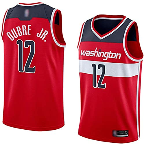 XSJY Jersey De Baloncesto para Hombres, Washington Wizards NBA 12# Kelly Oobre JR Jerseys, Camiseta Deportiva Sin Mangas De Ocio Transpirable,C,XXL:185~190cm/95~110kg
