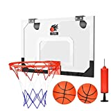 DEWEL Canasta Aro de Baloncesto con 1 Inflador y 2 Pelotas, Canasta Baloncesto Infantil portátil para Oficina y casa, Canasta Baloncesto para Niños