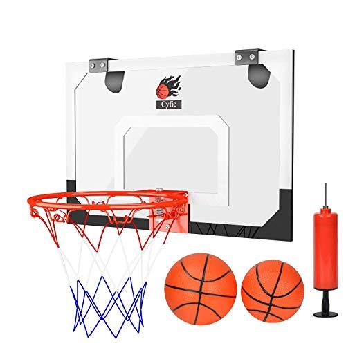 DEWEL Tablero de Pared de Baloncesto con 1 Inflador y 2 Pelotas, Canasta Baloncesto portátil para Oficina y casa, Baloncesto Canasta para Adultos y Niños para la Puerta
