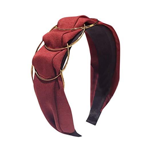 LOPILY Moda Estilo Diademas para Mujer Banda para el cabello de ala ancha Color Sólido Accesorios para el Pelo Alta calidad Accesorios para el cabello de fiesta de bodas