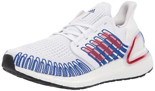 adidas Men's Ultraboost 20 Sneaker, White/Scarlet/Team Royal Blue, 7.5 UK