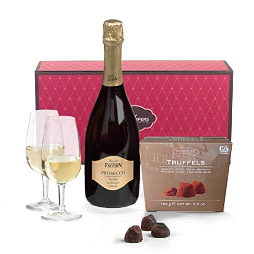 Hay Hampers Prosecco & Chocolate Truffles Gift Hamper Box For Mum