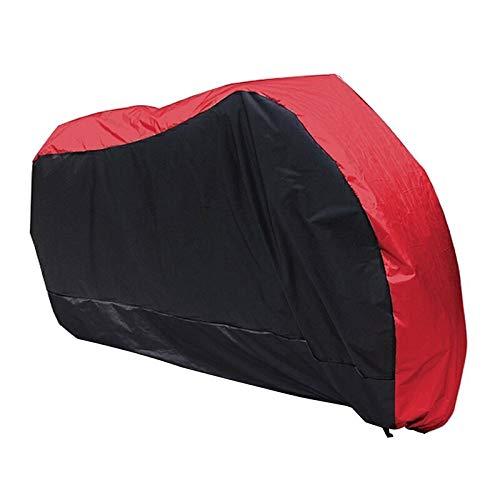 zc Rotes schwarzes Motorrad Motorrad Street Bike Roller wasserdicht Wasserbeständigkeit Regen UV Schutz...