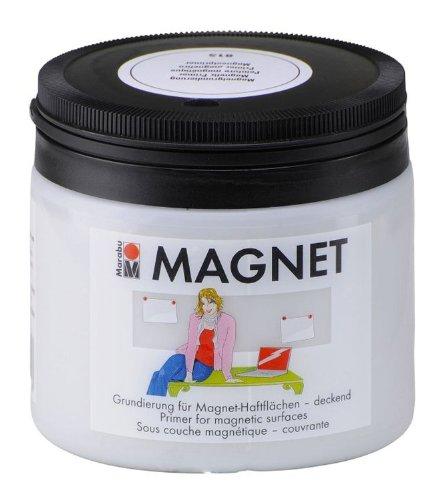 Marabu 02600043815 - Magnetfarbe 475 ml, Acrylgrundierung für magnetische Flächen, nach Trocknung übermalbar, wasserfest und lichtecht, 3 - 4 Schichten kreuzweise auftragen für bessere Magnetkraft