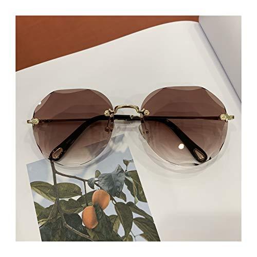 SSN Randlose Sonnenbrille Netto-Celebrity Selon-Sonnenbrille-Sonnenbrille-weibliche Europäische Und Amerikanische Stil-Stil Schießen Anti-ultraviolett Antreibgläsern