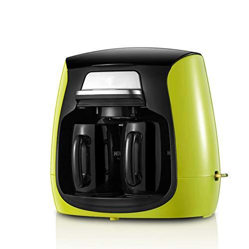 OOFAY Tragbare Kleine Amerikanische Kaffeemaschine, 0,3 L Keramik Tasse Haushalt Tee Maschine, Vollautomat Kaffeemaschine, Tropfkaffeemaschine, Doppel Tasse Kaffeemaschine,Grün