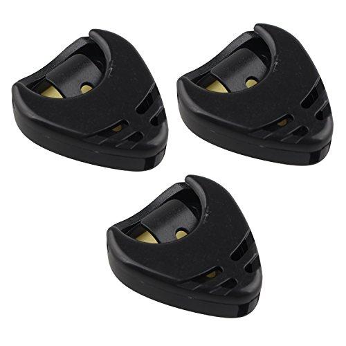 3個 ギターピックホルダートライアングルハート型粘着性と携帯用