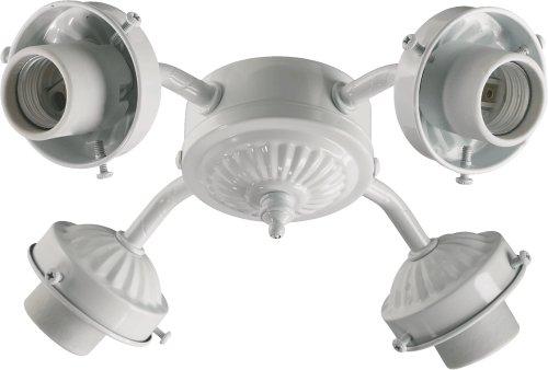 Quorum 2444-806 Accessory - 10 Inch 36W 4 LED Ceiling Fan Light Kit, White Finish