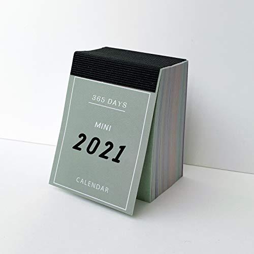 LUFASCA カレンダー 2021 日めくり カレンダー ミニカレンダー 手帳 日記 かわいい 365日 ミニサイズ ステーショナリー (グレー)