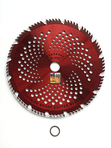 2pk-10'-80t - RENEGADE'RAZOR' / HYBRID - COMBO Specialty - RENEGADE BLADE - Carbide Brush Cutter weed eater Blades, 254mm