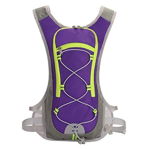 Kuingbhn Mochila De Senderismo Mochila De Bicicleta De Paquete De Hidratación Viajes (Size:Free Size; Color:Purple)