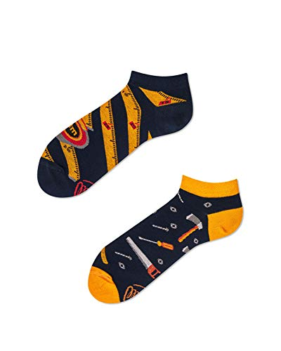 Preisvergleich Produktbild Many Mornings - Sneaker Socken - The Handyman low,  Zollstock,  Werkzeug,  Handwerker Gr. 43-46
